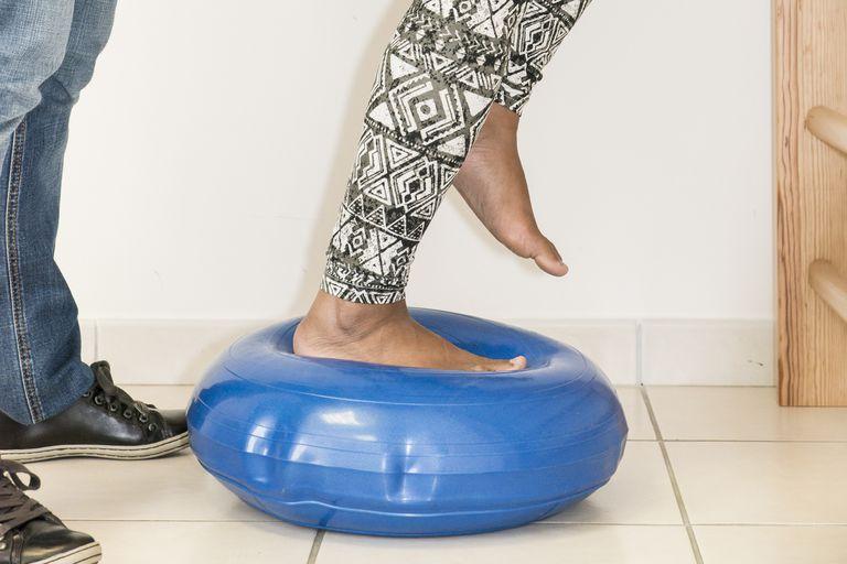 Χρησιμοποιώντας μια ισορροπία δίσκο για άσκηση και Active Sitting