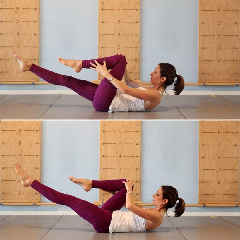 Hur man gör en Single Leg Stretch i Pilates – rätt form, variationer, och vanliga misstag